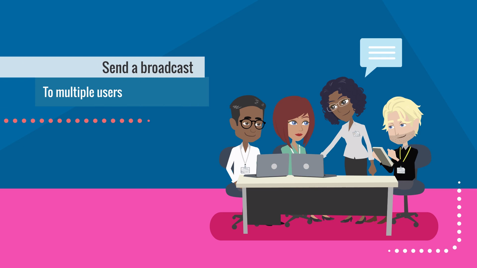 Broadcasting messages to multiple users